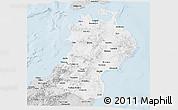 Silver Style Panoramic Map of Tohoku
