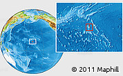 Physical Location Map of Johnston Atoll, highlighted continent