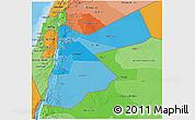 Political Shades 3D Map of Jordan