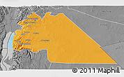 Political 3D Map of Amman, desaturated