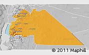 Political 3D Map of Amman, lighten, desaturated