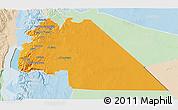 Political 3D Map of Amman, lighten