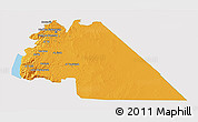 Political 3D Map of Amman, single color outside