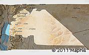 Satellite 3D Map of Amman, darken