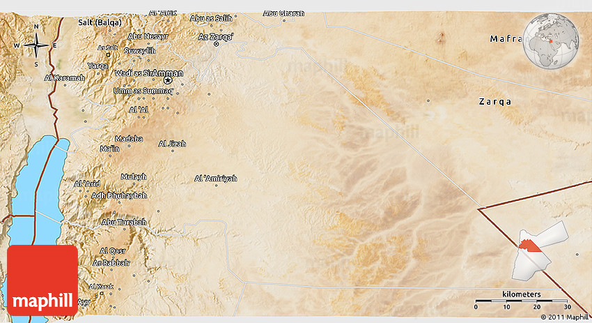 Satellite 3D Map of Amman