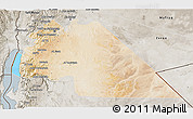 Satellite 3D Map of Amman, semi-desaturated