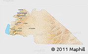 Satellite 3D Map of Amman, single color outside