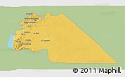 Savanna Style 3D Map of Amman, single color outside