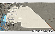 Shaded Relief 3D Map of Amman, darken