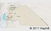 Shaded Relief 3D Map of Amman, lighten