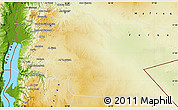 Physical Map of Amman