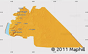 Political Map of Amman, cropped outside