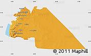 Political Map of Amman, single color outside