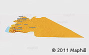 Political Panoramic Map of Amman, single color outside