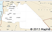 Classic Style Simple Map of Amman