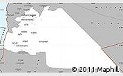 Gray Simple Map of Amman
