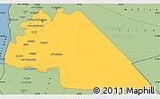Savanna Style Simple Map of Amman