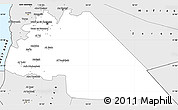 Silver Style Simple Map of Amman