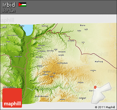 Free Physical 3D Map of Irbid