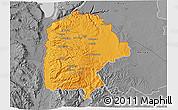 Political 3D Map of Irbid, desaturated