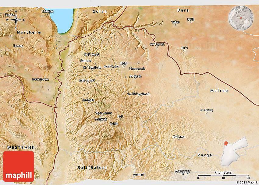 Satellite 3D Map of Irbid
