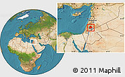 Satellite Location Map of Irbid