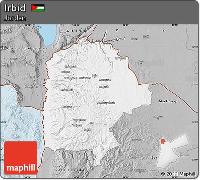 Free Gray Map of Irbid
