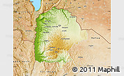 Physical Map of Irbid, satellite outside