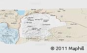 Classic Style Panoramic Map of Irbid