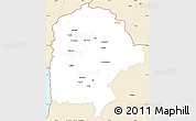 Classic Style Simple Map of Irbid