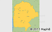 Savanna Style Simple Map of Irbid