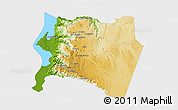 Physical 3D Map of Karak, single color outside