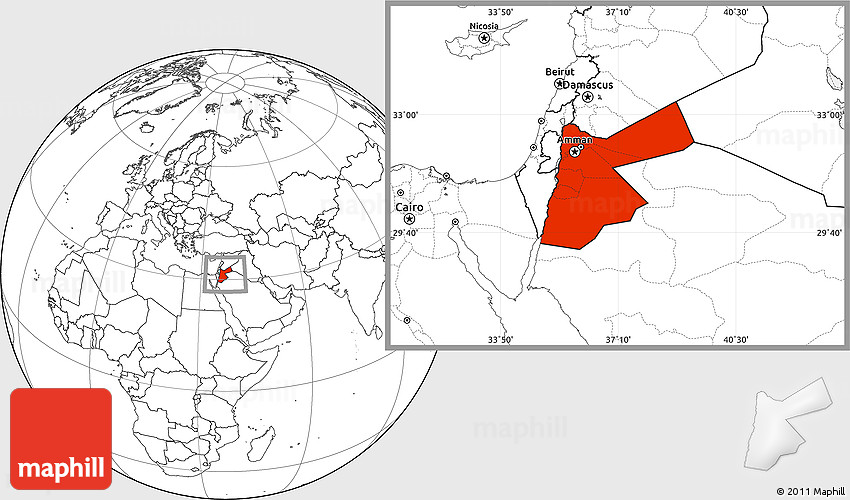 Blank location map of jordan 2d publicscrutiny Image collections