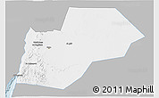 Gray 3D Map of Ma-an, single color outside