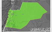 Political 3D Map of Ma-an, darken, desaturated