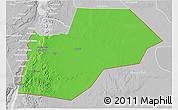 Political 3D Map of Ma-an, lighten, desaturated
