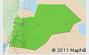 Political 3D Map of Ma-an, lighten