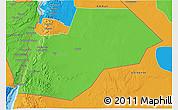 Political 3D Map of Ma-an
