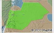 Political 3D Map of Ma-an, semi-desaturated