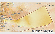 Physical 3D Map of Mafraq, satellite outside