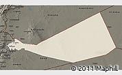 Shaded Relief 3D Map of Mafraq, darken