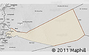 Shaded Relief 3D Map of Mafraq, desaturated