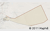 Shaded Relief 3D Map of Mafraq, lighten