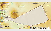 Shaded Relief 3D Map of Mafraq, physical outside