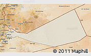Shaded Relief 3D Map of Mafraq, satellite outside