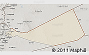 Shaded Relief 3D Map of Mafraq, semi-desaturated