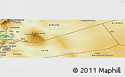 Physical Panoramic Map of Mafraq