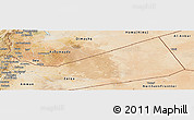 Satellite Panoramic Map of Mafraq
