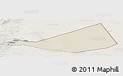 Shaded Relief Panoramic Map of Mafraq, lighten