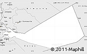 Silver Style Simple Map of Mafraq